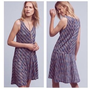 Anthropologie Maeve Westwater Knit Chevron Dress